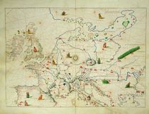 The Continent of Europe, from an Atlas of the World in 33 Maps von Battista Agnese