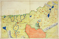 The Middle East, from an Atlas of the World in 33 Maps von Battista Agnese