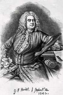 George Frederick Handel, 1749 von Thomas Hudson