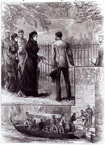 Empress Eugenie visiting the tomb of Napoleon I on St. Helena von English School