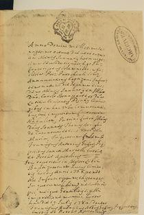 Napoleon's Birth Certificate von French School