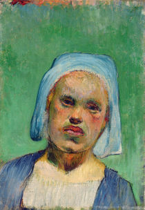 Head of a Breton by Paul Gauguin
