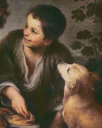 Detail of Children Eating a Pie by Bartolome Esteban Murillo