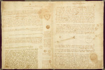 A page from the Codex Leicester von Leonardo Da Vinci