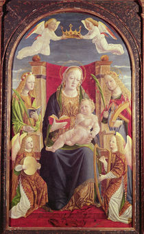 Madonna and Child with Angel Musicians by Lombard School