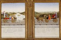 Allegorical triumphs of Federico da Montefeltro by Piero della Francesca