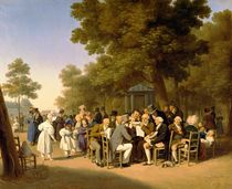 Politicians in the Tuileries Gardens von Louis Leopold Boilly
