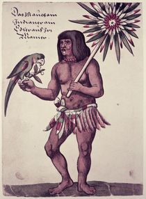 Amazon Indian, engraved by Theodore de Bry by John White
