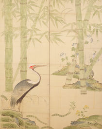 Bamboo and Crane, Edo Period by Japanese School