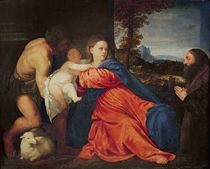 Virgin and Infant with Saint John the Baptist and Donor von Titian