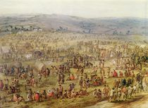 Military Encampment by Robert van den Hoecke