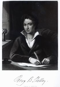 Percy Bysshe Shelley, engraved by William Holl by Amelia Curran