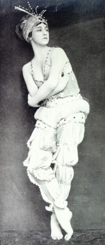 Tamara Karsavina in the role of Zobeide from the ballet 'Scheherazade' by English Photographer