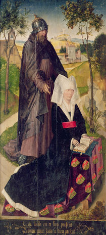 Guillemette de Montagu with Saint Guillaume by Rogier van der Weyden
