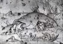 Big fishes eat small ones, 1556 by Pieter the Elder Bruegel