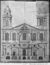Church of Saint-Sulpice, elevation of the facade by Giovanni Niccolo Servandoni