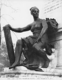 Monument to Leon Gambetta, Force, cour Napoleon, Louvre, 1888 by Jean Paul Aube