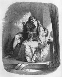 Heloise and Abelard kissing von Jean Francois Gigoux