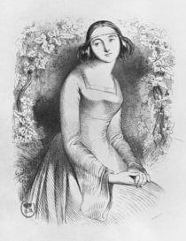 Heloise, illustration from 'Lettres d'Heloise et d'Abelard' by Jean Francois Gigoux