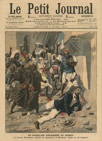 Stoning of French doctor Mauchamp in Morocco by French School