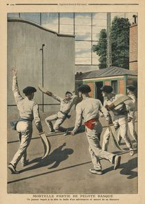 Fatal Basque Pelota, illustration from 'Le Petit Journal' by French School
