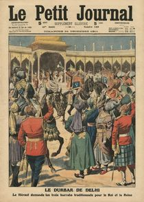Delhi Durbar, illustration from 'Le Petit Journal' by French School