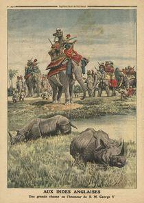 A rhinoceros hunt in honour of King George V von French School