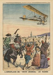 The 'Petit Journal' airplane flying over Morocco von French School