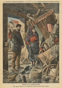 After the disaster, illustration from 'Le Petit Journal' von French School