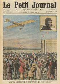 The aviator Alfred Leblanc arriving in Issy-les-Moulineaux by French School