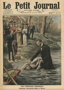 An unusual ceremony, an Adventist baptism in La Marne by French School