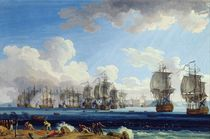 The Battle of Chesma on the 5th July 1770 by Jacob-Philippe Hackert
