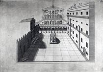 The Belvedere Court in Old St. Peter's Rome von Giovanni Battista Piranesi