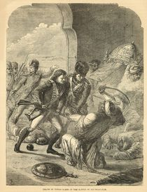 Death of Tippoo Sahib at the Battle of Seringapatam by English School