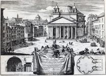 Piazza della Rotonda with a view of the Pantheon by Domenico de' Rossi