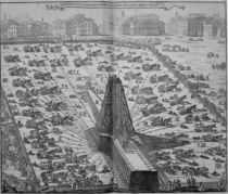 Erecting the Ancient Egyptian Obelisk in St. Peter's Square by Italian School