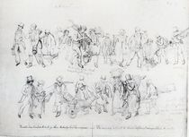 People of Various Occupations on their way to work von George the Elder Scharf