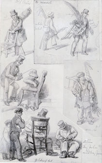 Chair menders on the streets of London von George the Elder Scharf