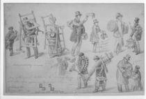 London street traders, 1830-40 von George the Elder Scharf