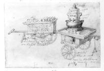 Gingerbeer and Hot Elder Wine stalls in Holborn by George the Elder Scharf