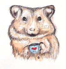 I Heart Tea Hamster by Jessica May