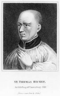 St. Thomas Becket, after a print by Hollar by English School