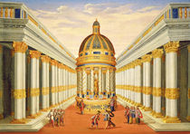Act I, scenes VII and VIII: Baccus' Temple by Giacomo Torelli