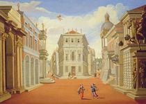 Act II, scenes I and VIII von Giacomo Torelli