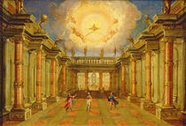 Act II, scene X: the courtyard of the King of Naxos von Giacomo Torelli