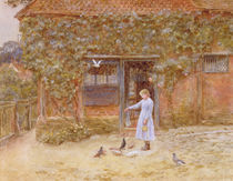 A cottage at Shere, c.1875 by Helen Allingham