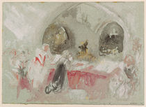 Service in the chapel at Petworth von Joseph Mallord William Turner