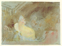 Interior at Petworth with seated figure by Joseph Mallord William Turner