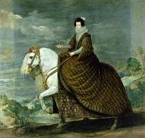 Equestrian portrait of Elisabeth de France von Diego Rodriguez de Silva y Velazquez