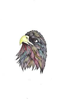 Multicoloured Eagle von Jessica May